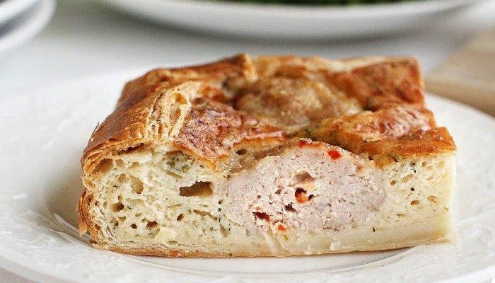 Пикантный пирог с фрикадельками