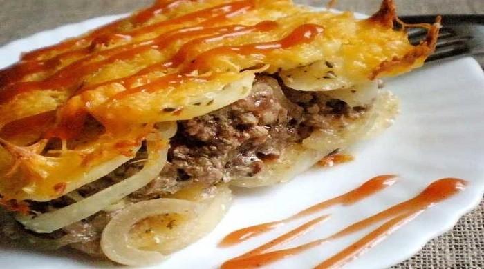 Рецепты картошки с фаршем из мяса, запеченной в духовке