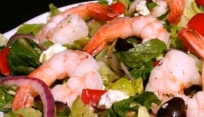 Салат «Греческий» с креветками