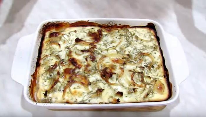 Картофельная запеканка с селёдкой