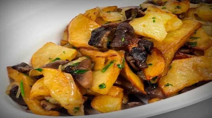 Рецепты жареной картошки с грибами на сковороде с фотографиями