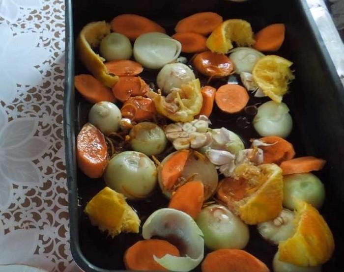 фрукты и овощи в форме