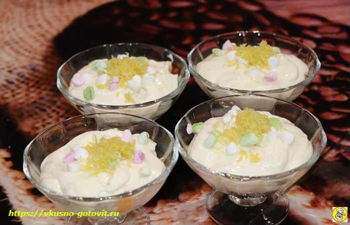 фруктовый десерт на Новый Год