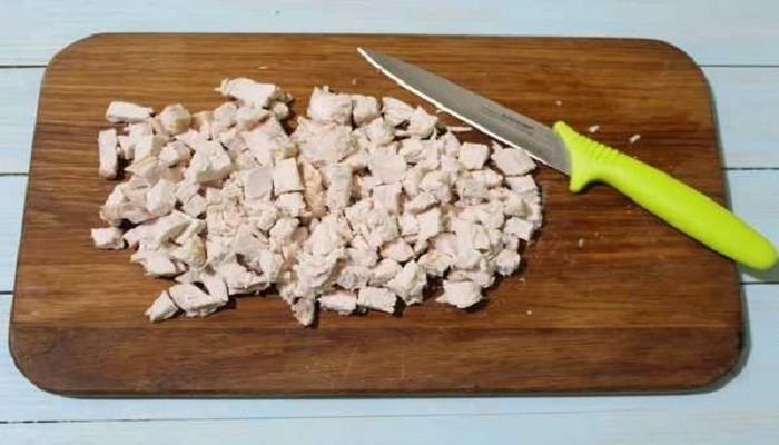 порезанная курица