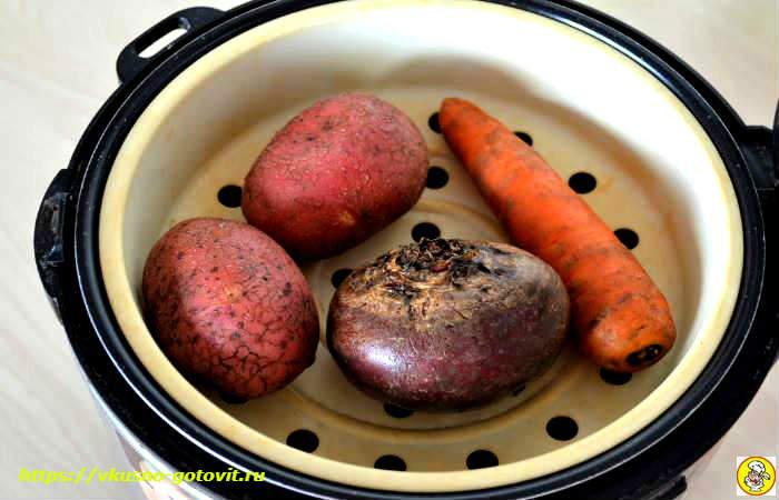 сваренные овощи