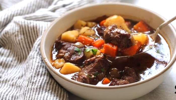 Тушёная говядина с картошкой
