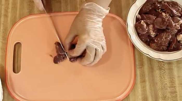 режем печень
