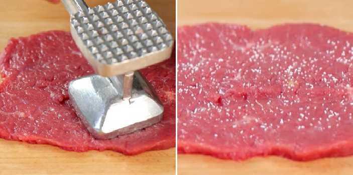 делаем отбивную из мяса