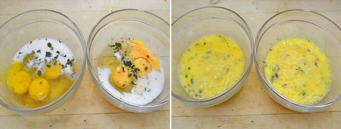 ингредиенты в 2 х мисках