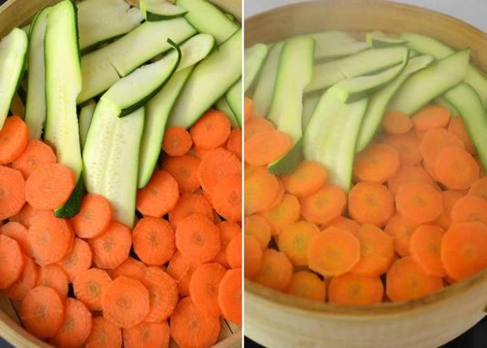 овощи в пароварке
