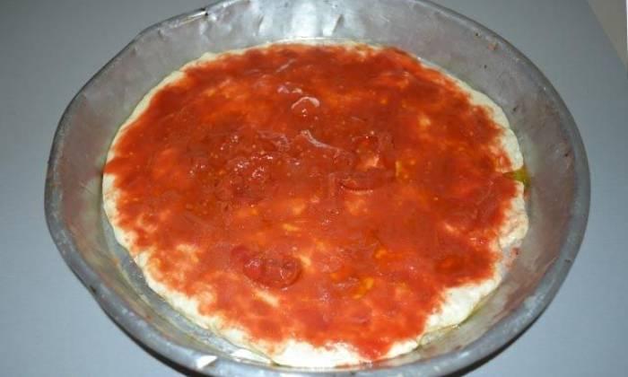 томатный соус на тесте